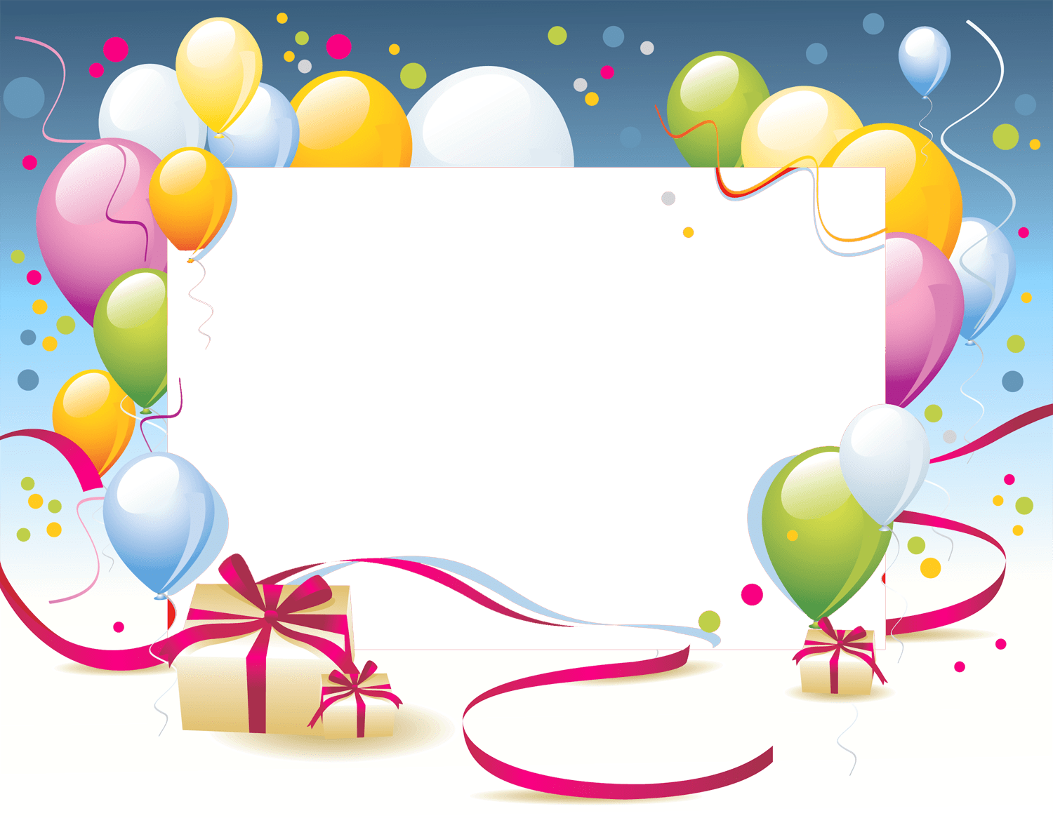 Happy Birthday Card Template Transparent Png Stickpng