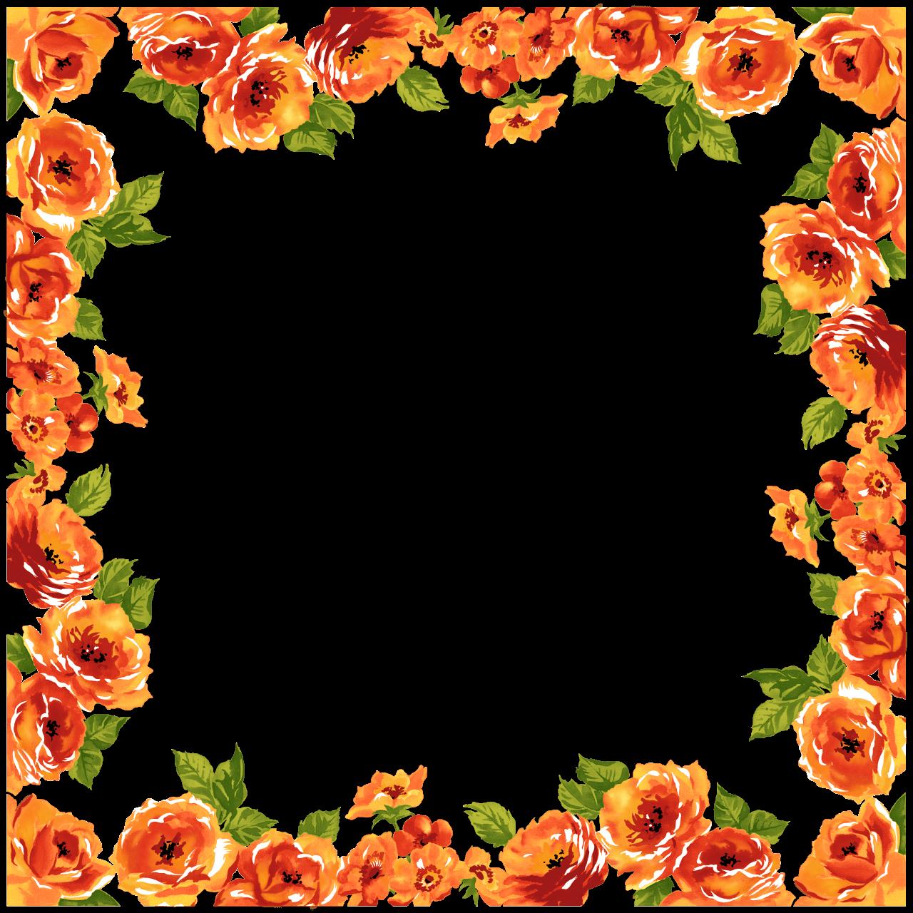 deco frame flowers transparent png stickpng