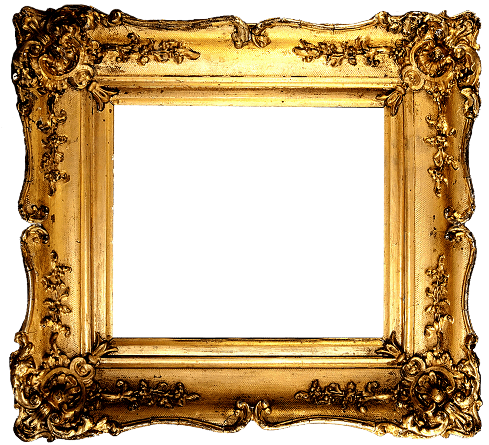 vintage gold frame transparent png stickpng