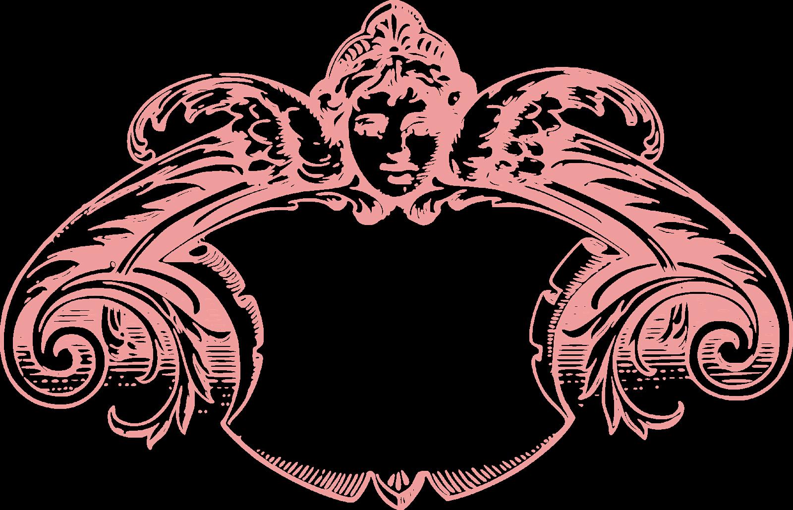 Vintage Small Rose Frame Transparent PNG