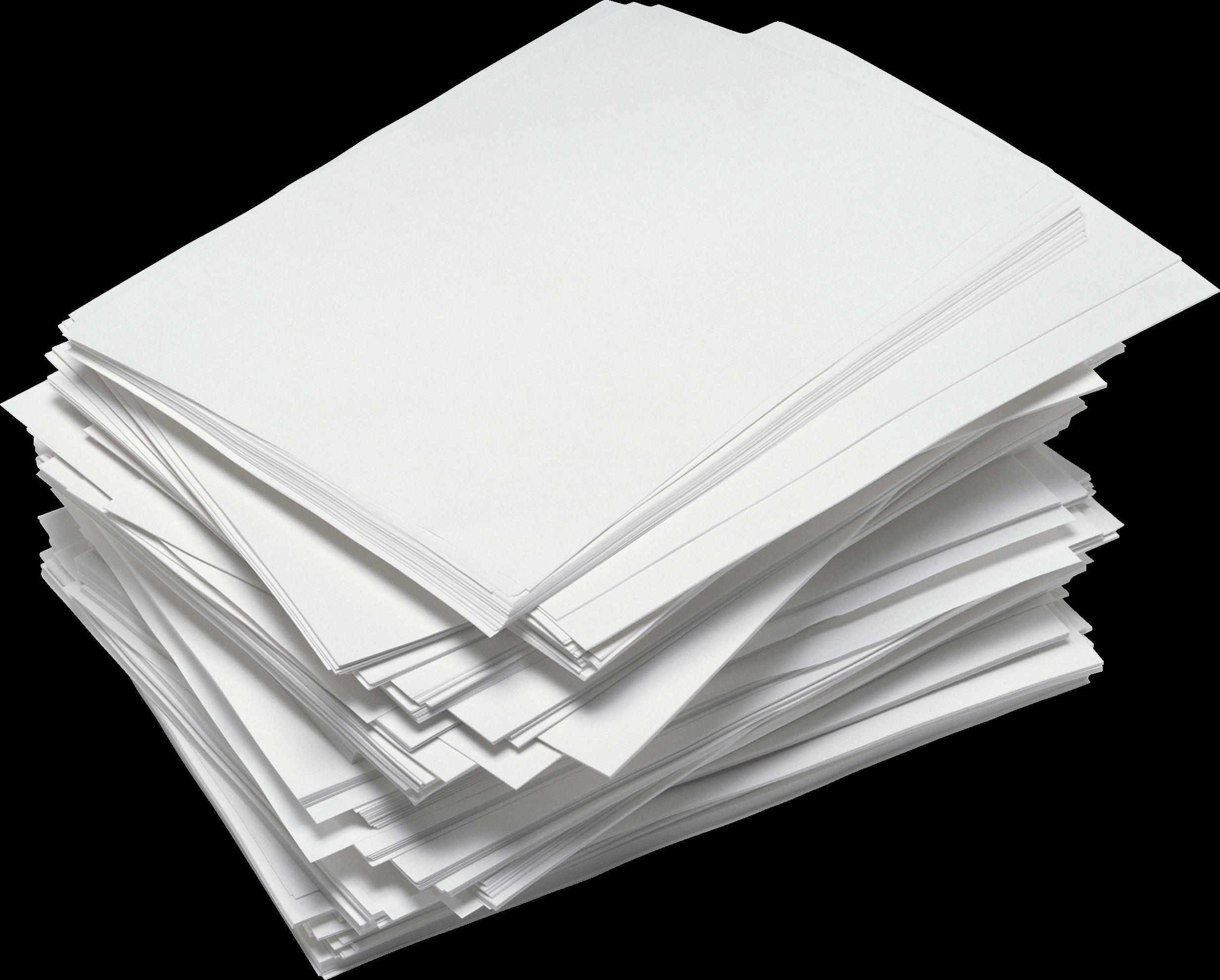 messy paper stack transparent png - stickpng