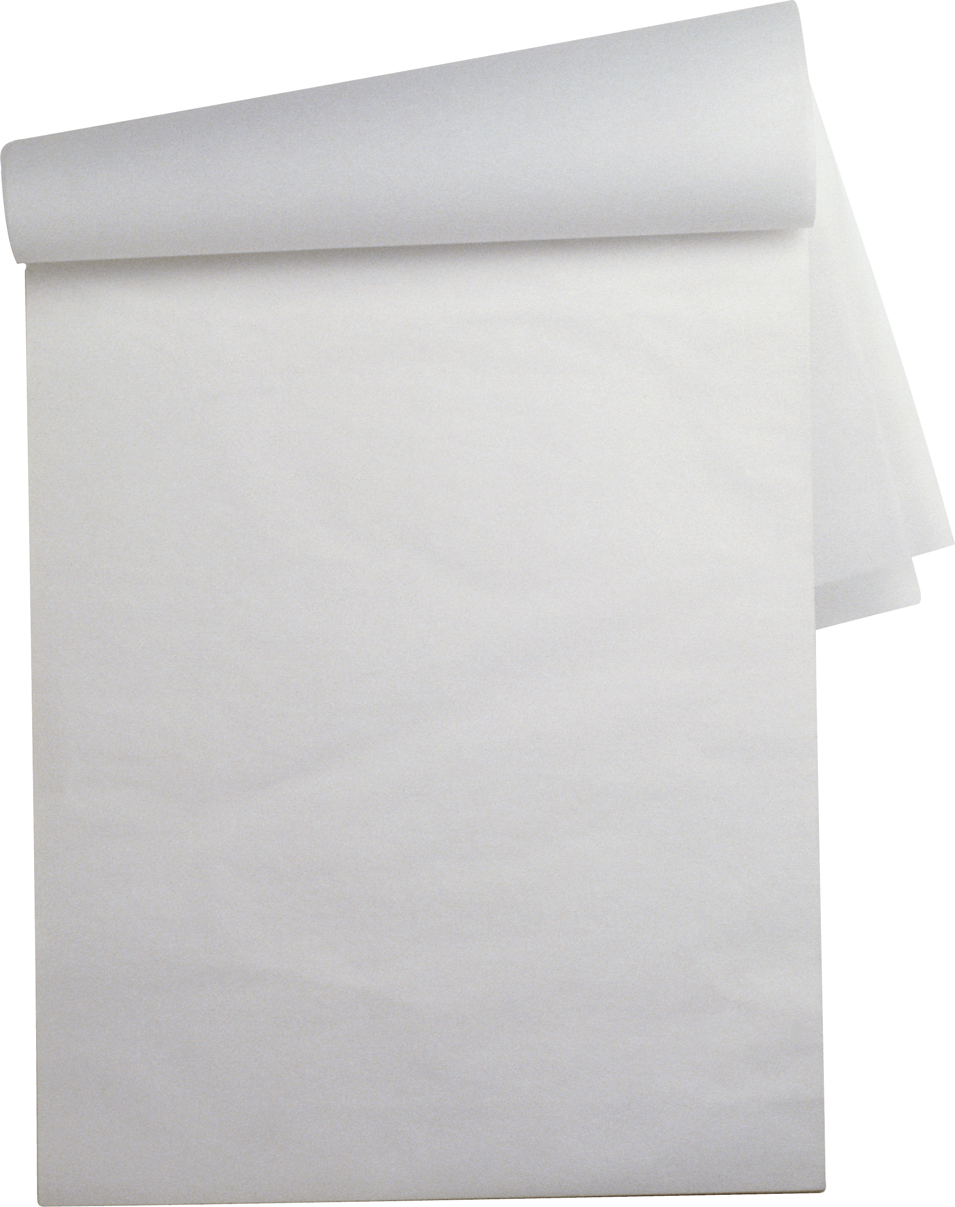 White Folded Paper Sheet transparent PNG - StickPNG