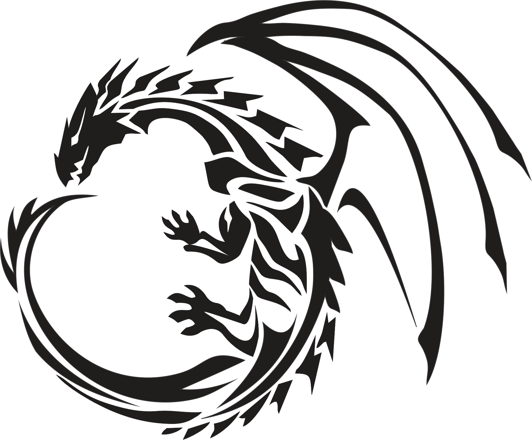 circle dragon tattoo transparent png stickpng. Black Bedroom Furniture Sets. Home Design Ideas