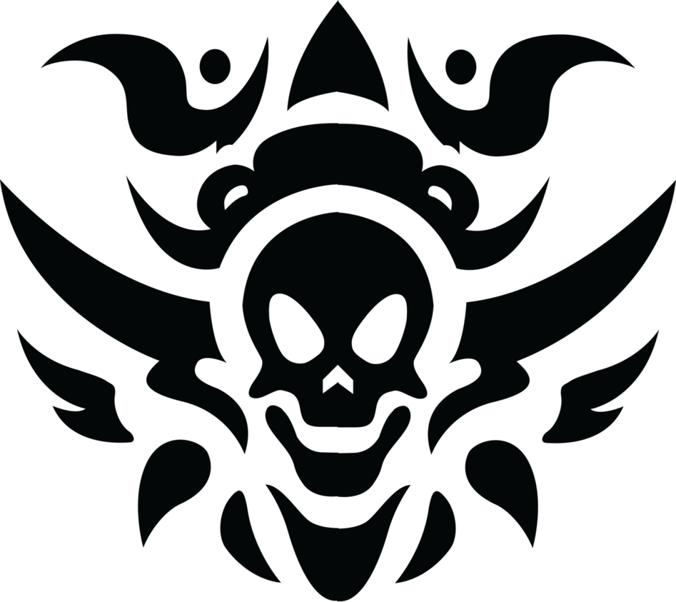 Tribal Skull Tattoo Transparent PNG