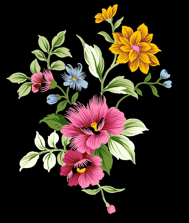 Art Nouveau Bouquet Flowers transparent PNG , StickPNG