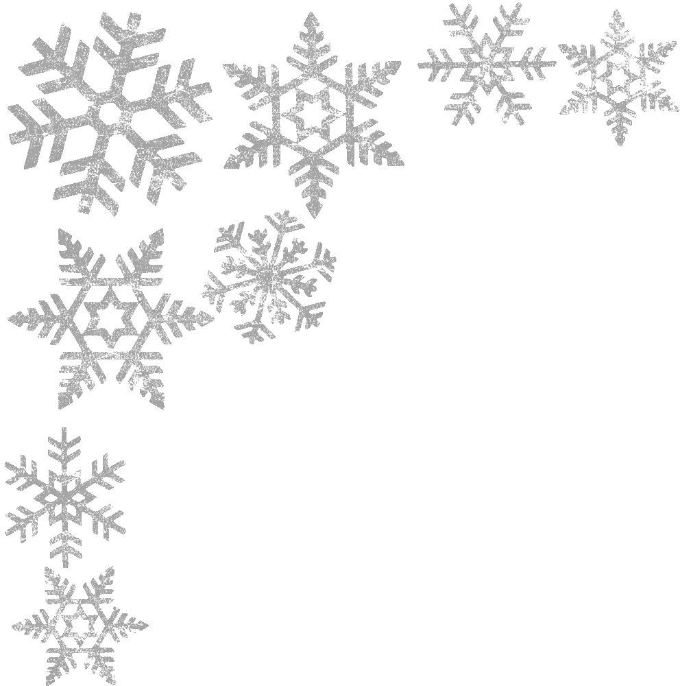 Corner silver snowflake transparent png stickpng for Weihnachtskugeln transparent