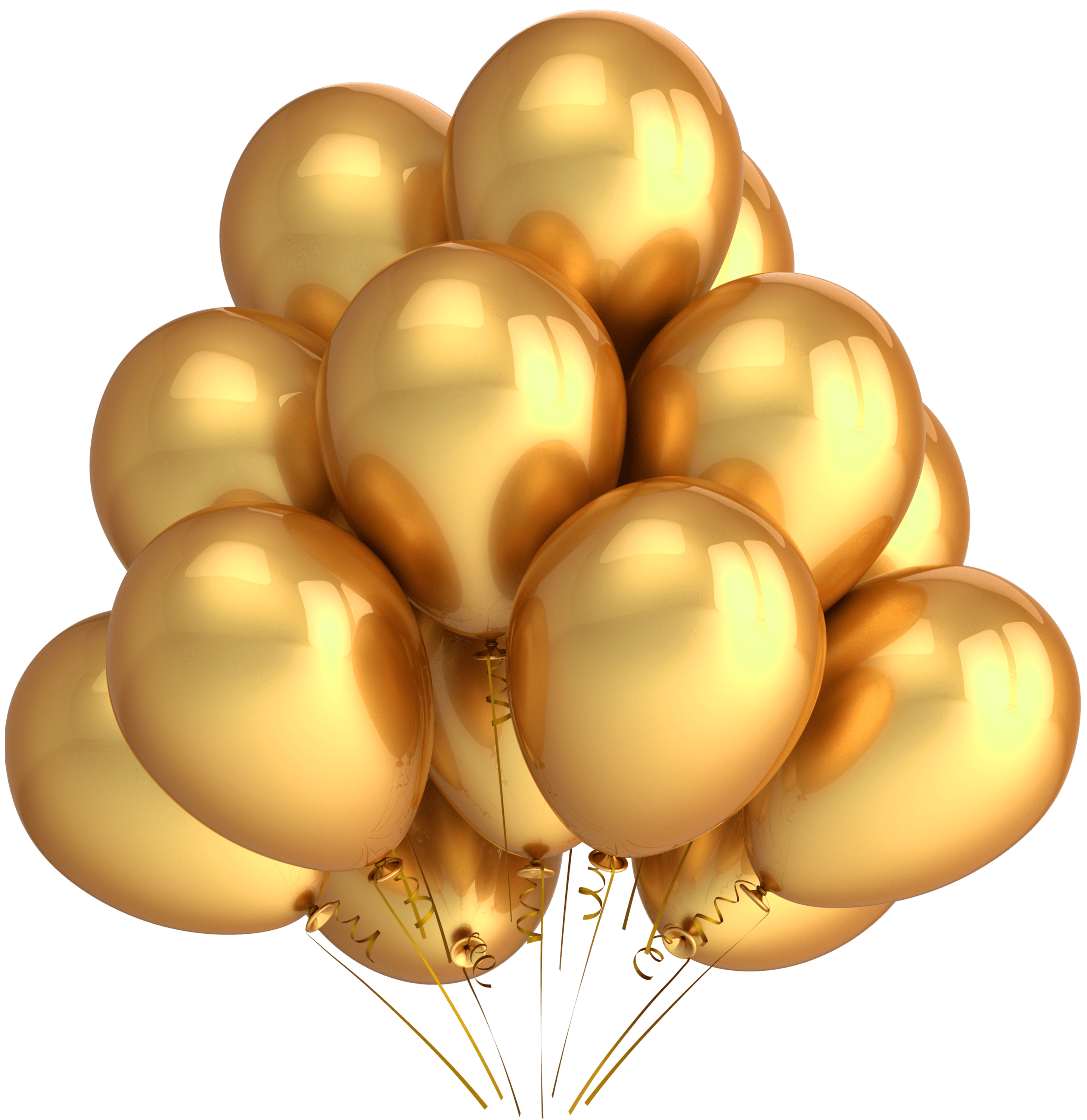 golden balloons transparent png stickpng