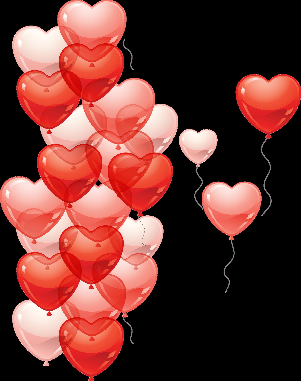 Heart Rain Balloon transparent PNG - StickPNG
