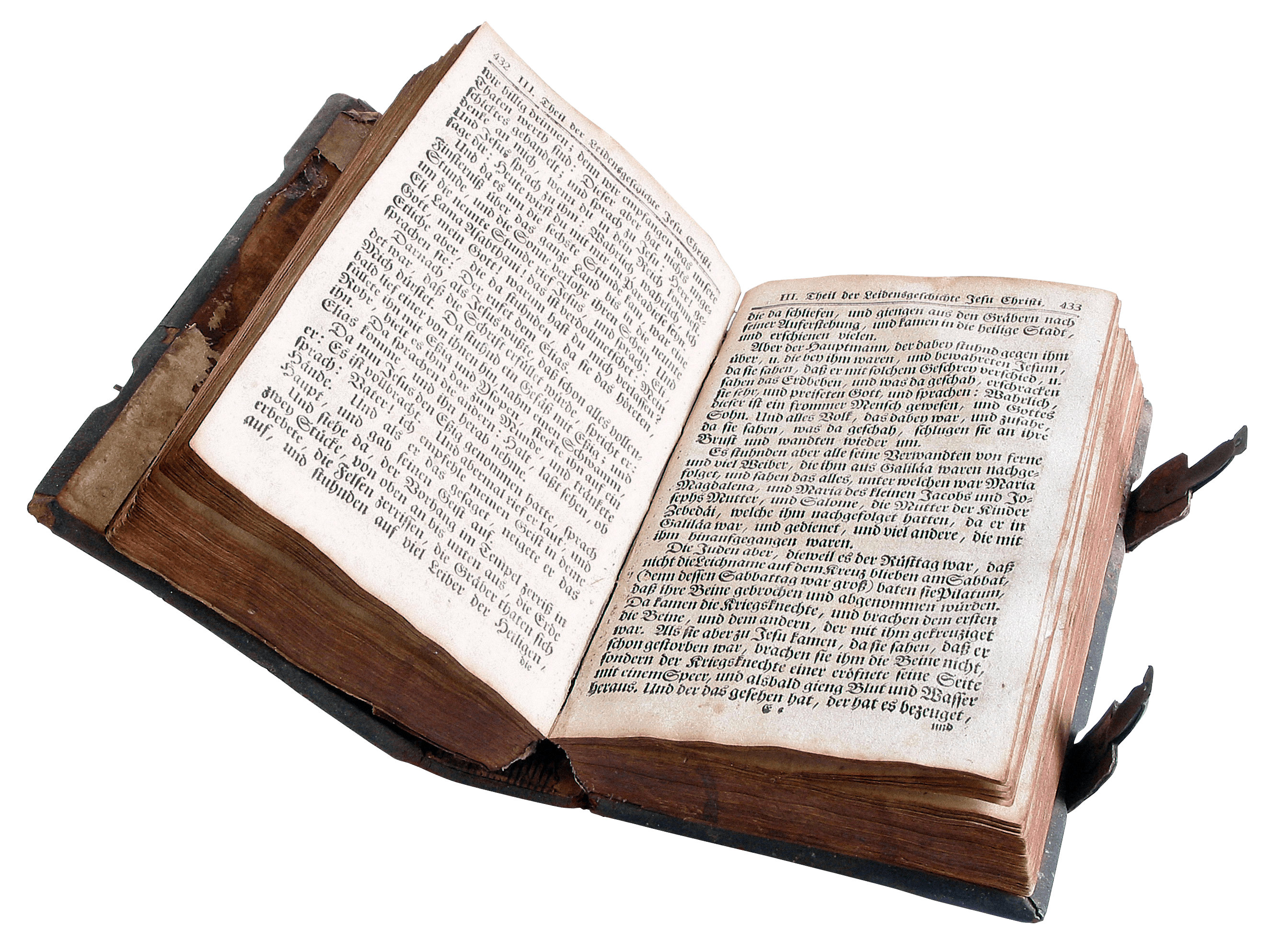 Open Old Book Transparent PNG