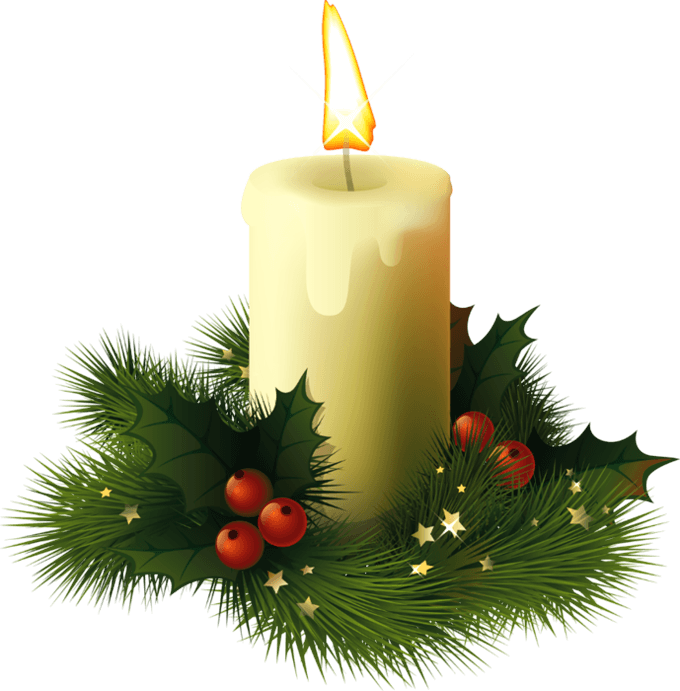Christmas candle transparent png stickpng for Set de table transparent