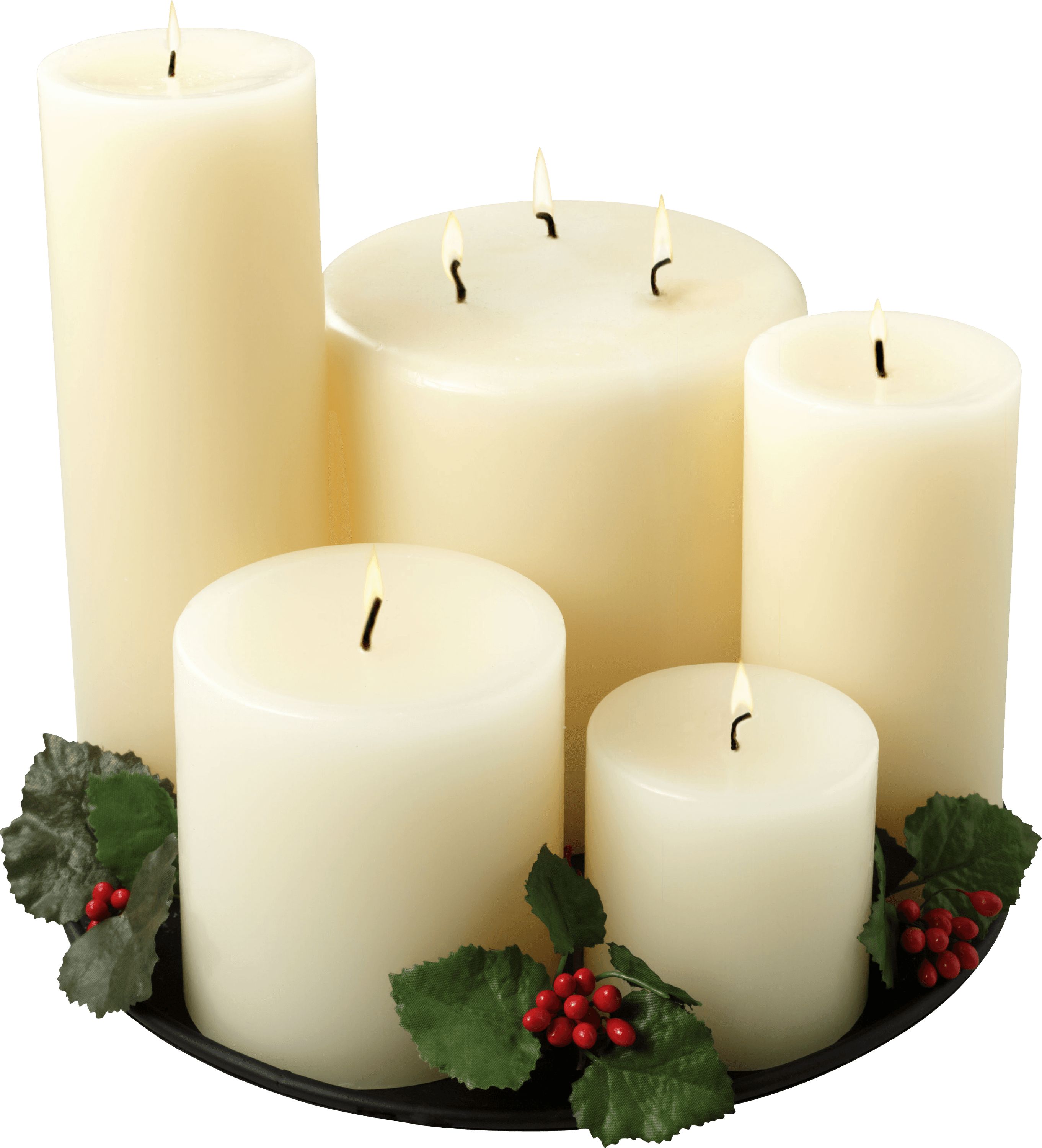Group Of White Candles
