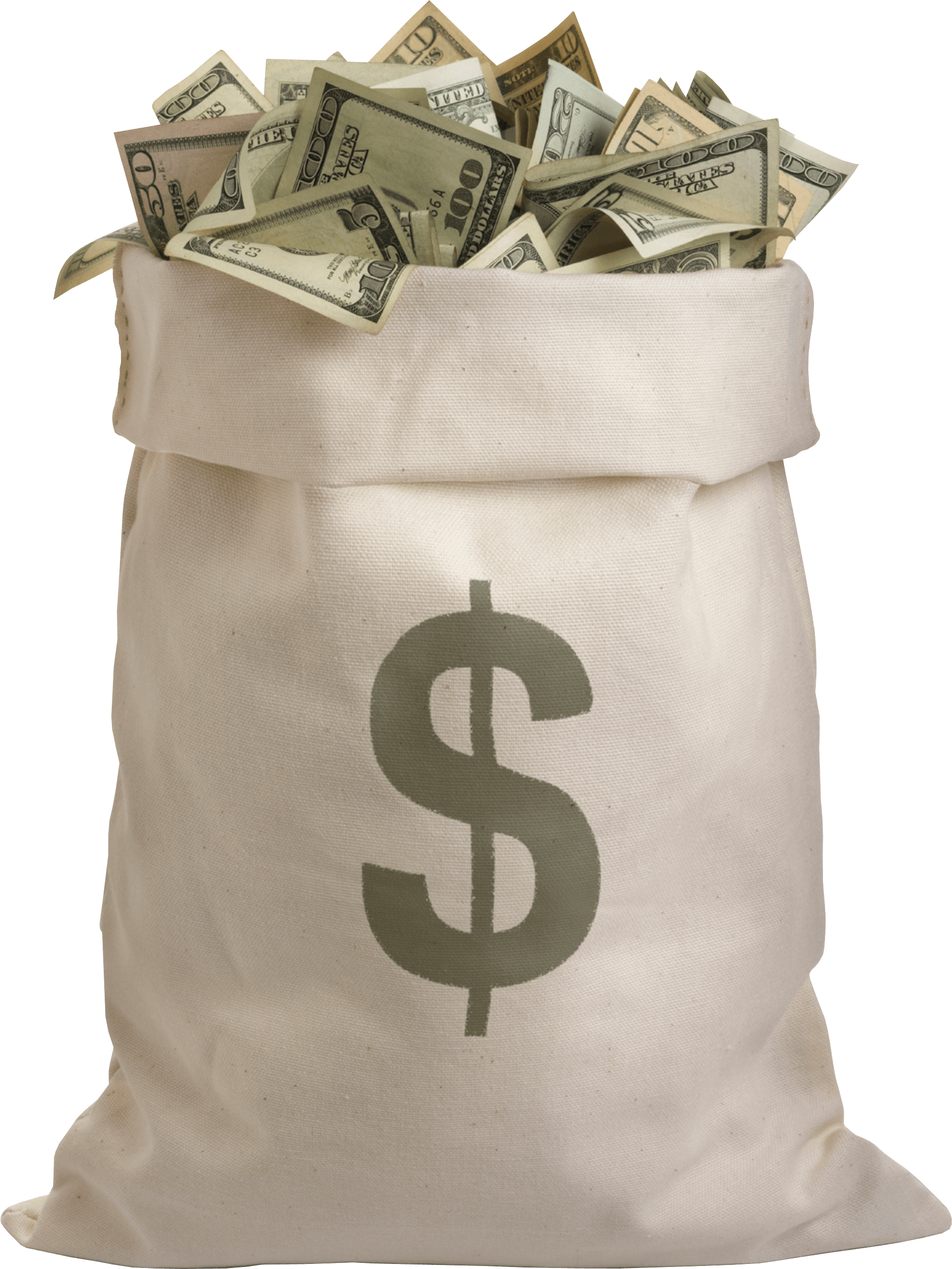 bag full of dollars money transparent png stickpng