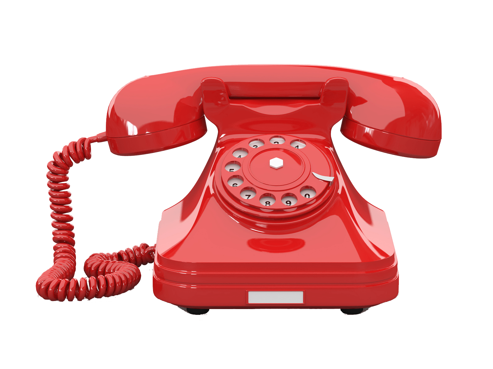 telephone red transparent png stickpng