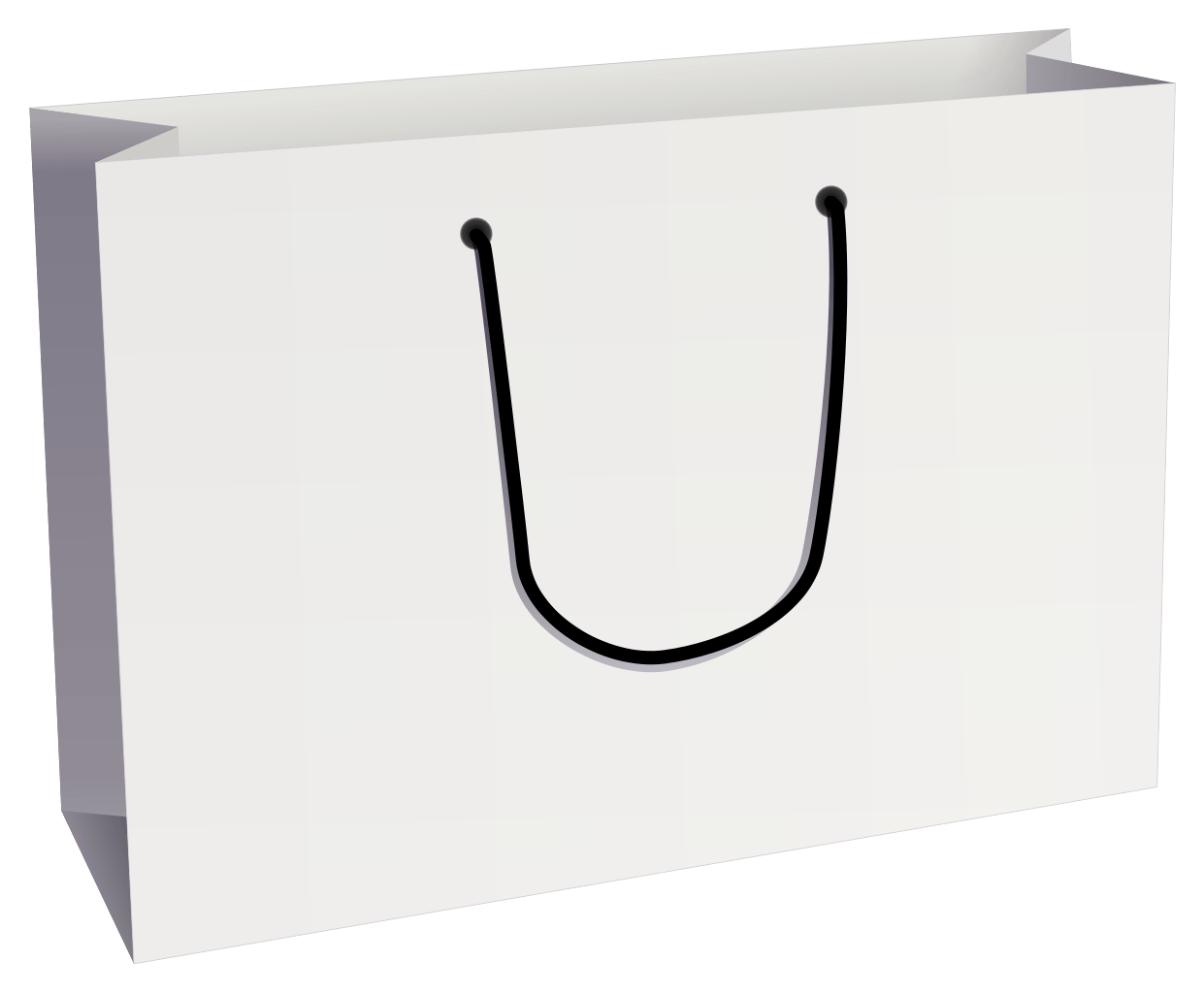 Plain White Shopping Bag transparent PNG - StickPNG