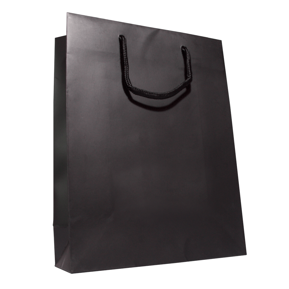 plain black shopping bag transparent png stickpng