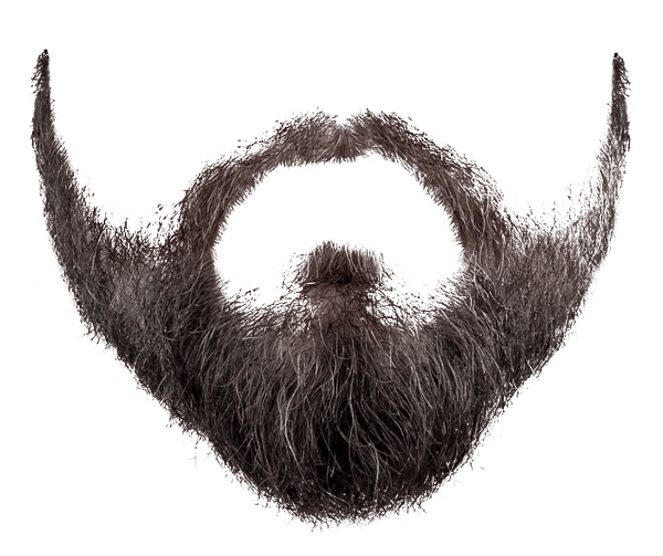 Grey Black Beard Transparent Png Stickpng