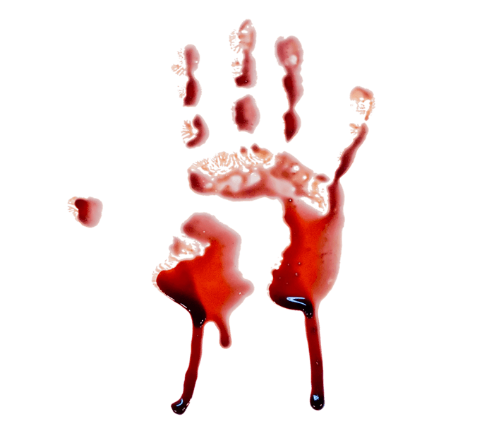 Hand Png Red : .or red hand print dripping blood.