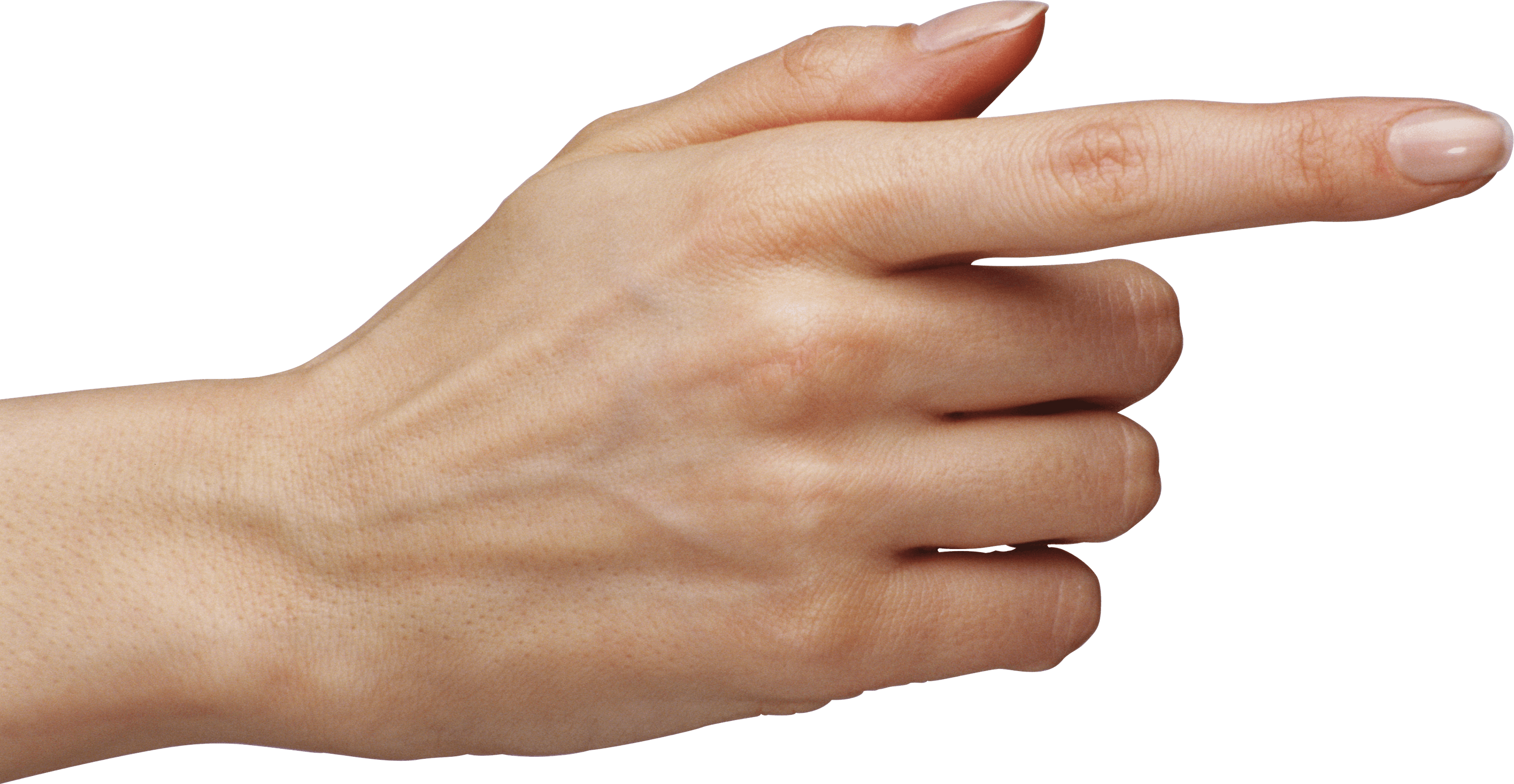 Woman Pointing Finger Transparent PNG