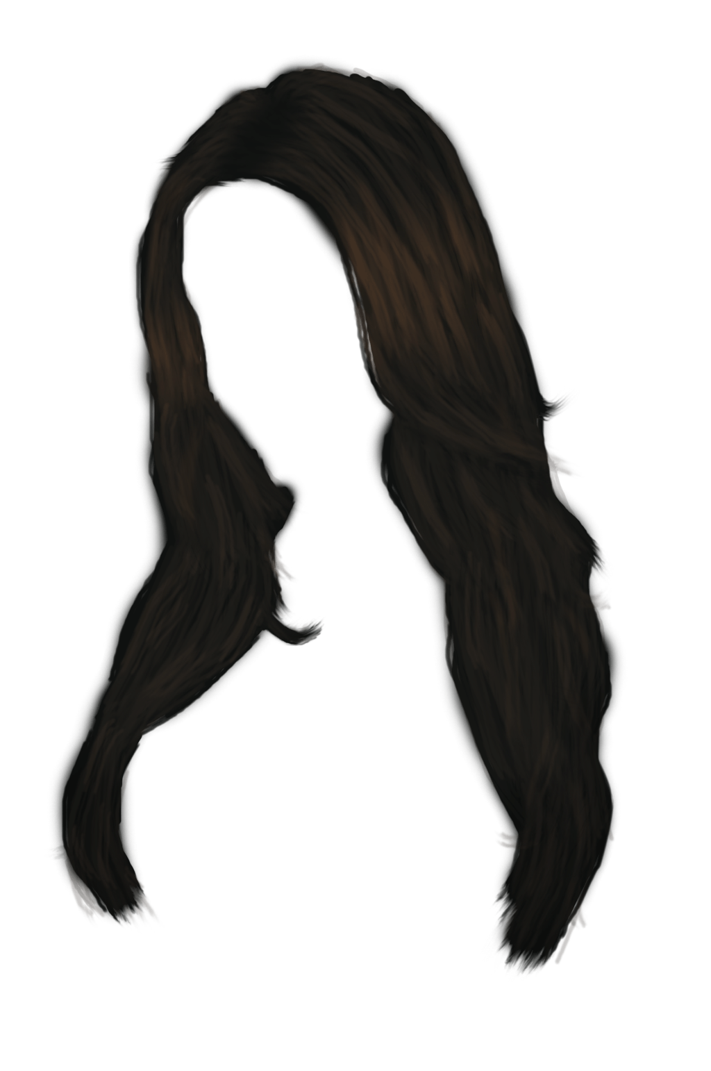 Long Black Women Hair Transparent Png Stickpng
