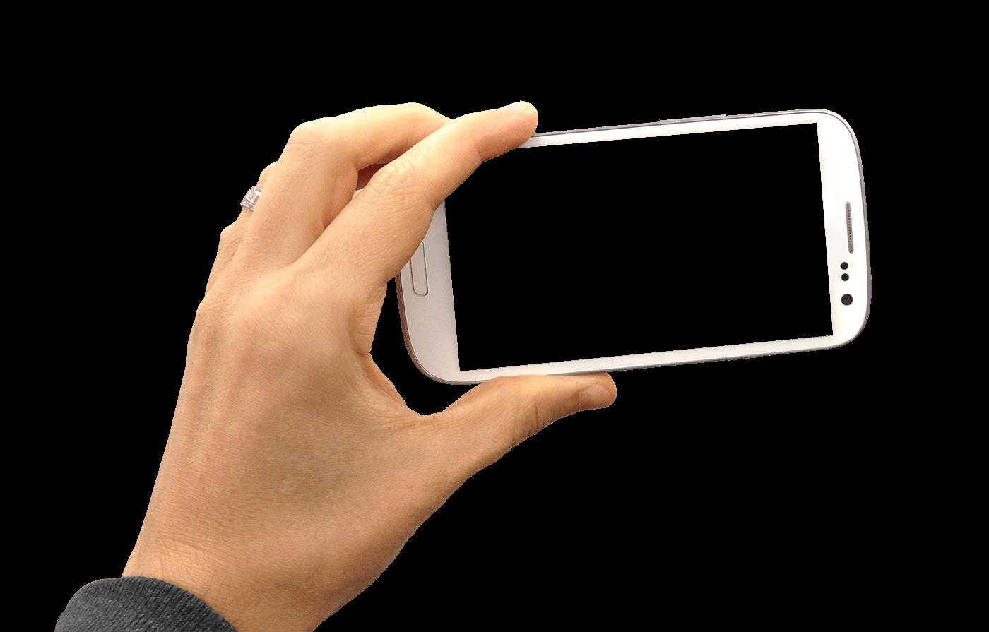hand holding smartphone landscape transparent png stickpng. Black Bedroom Furniture Sets. Home Design Ideas