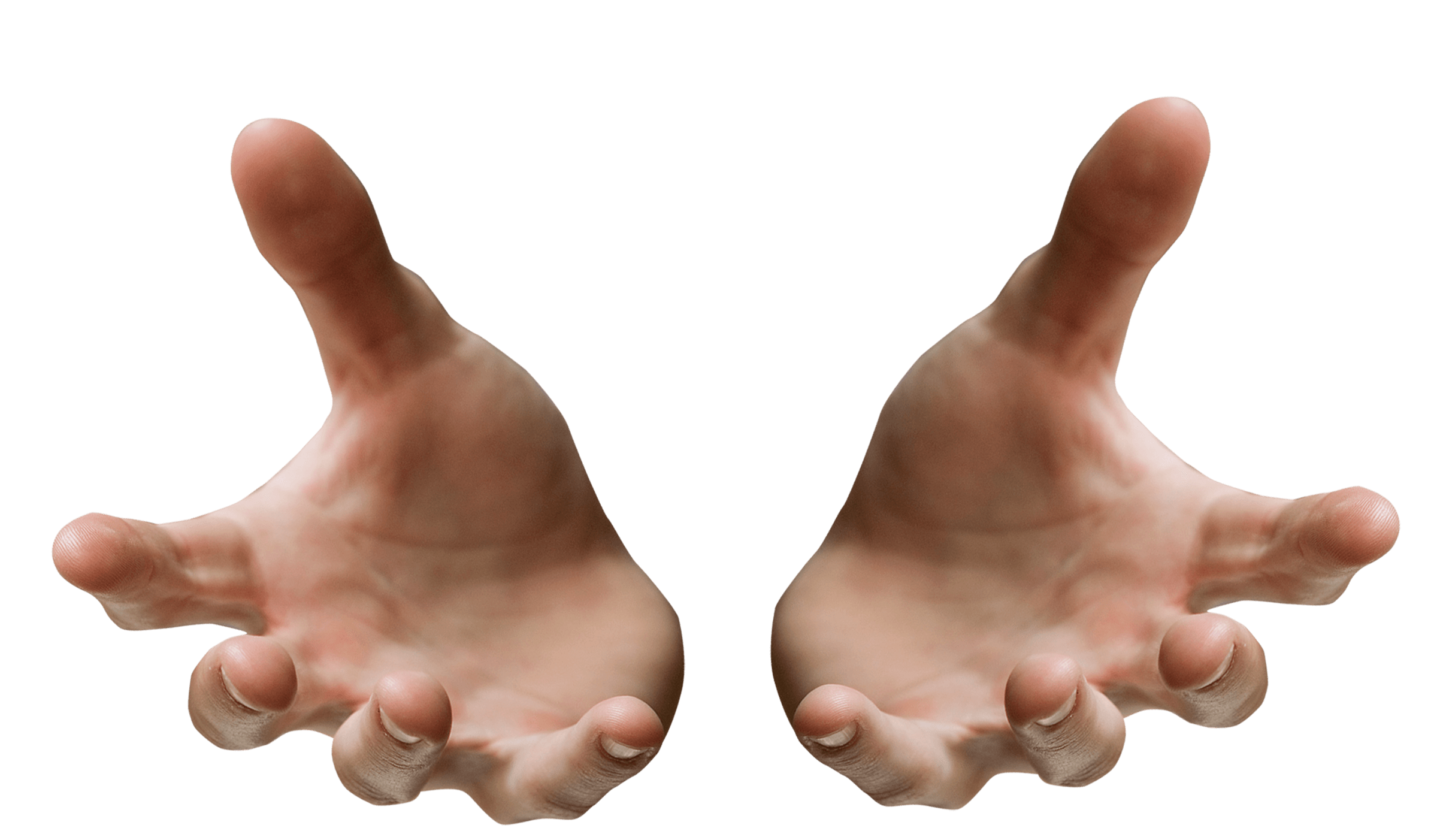 hands open receiving transparent png stickpng