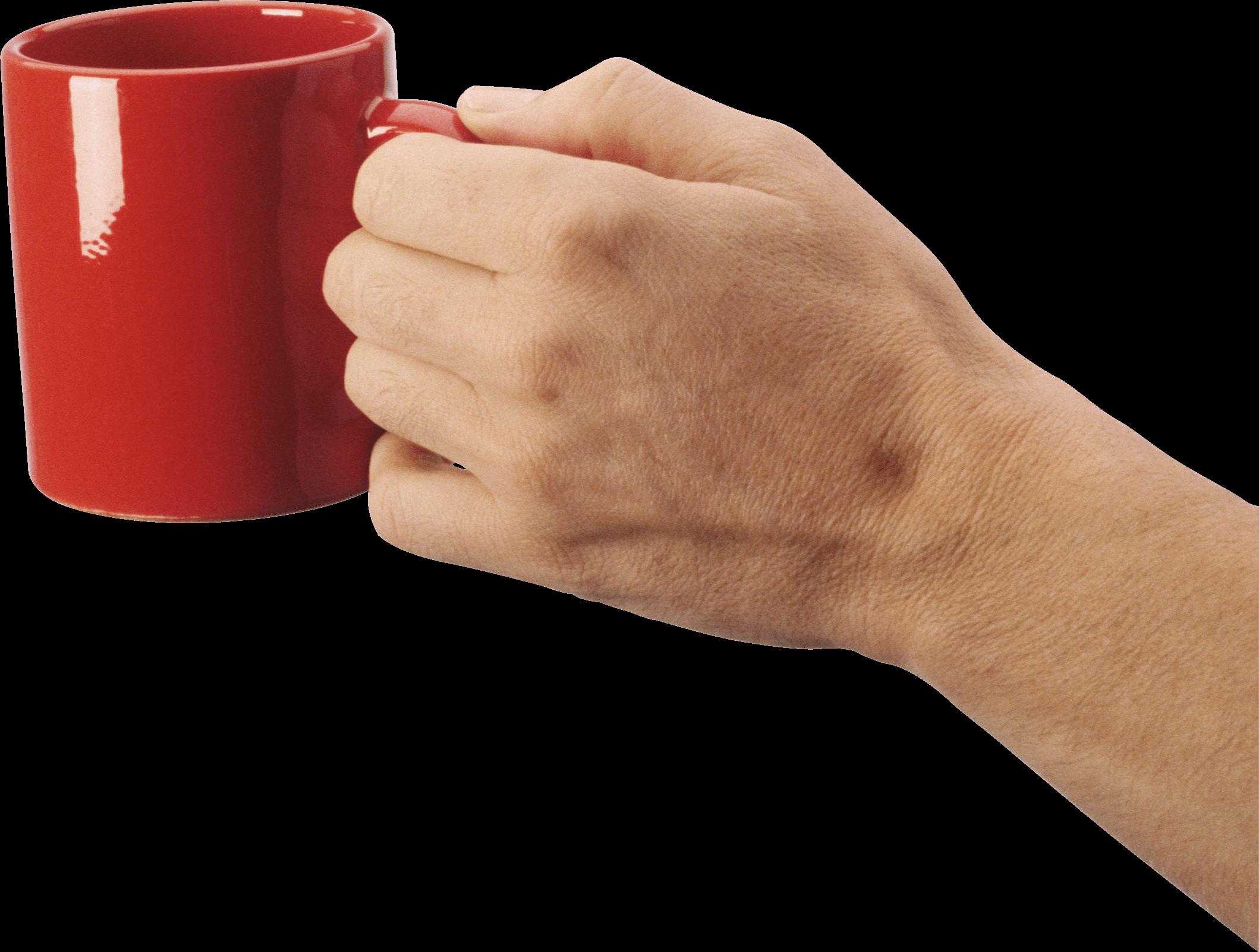 Holding Coffee Mug Hand Transparent Png Stickpng