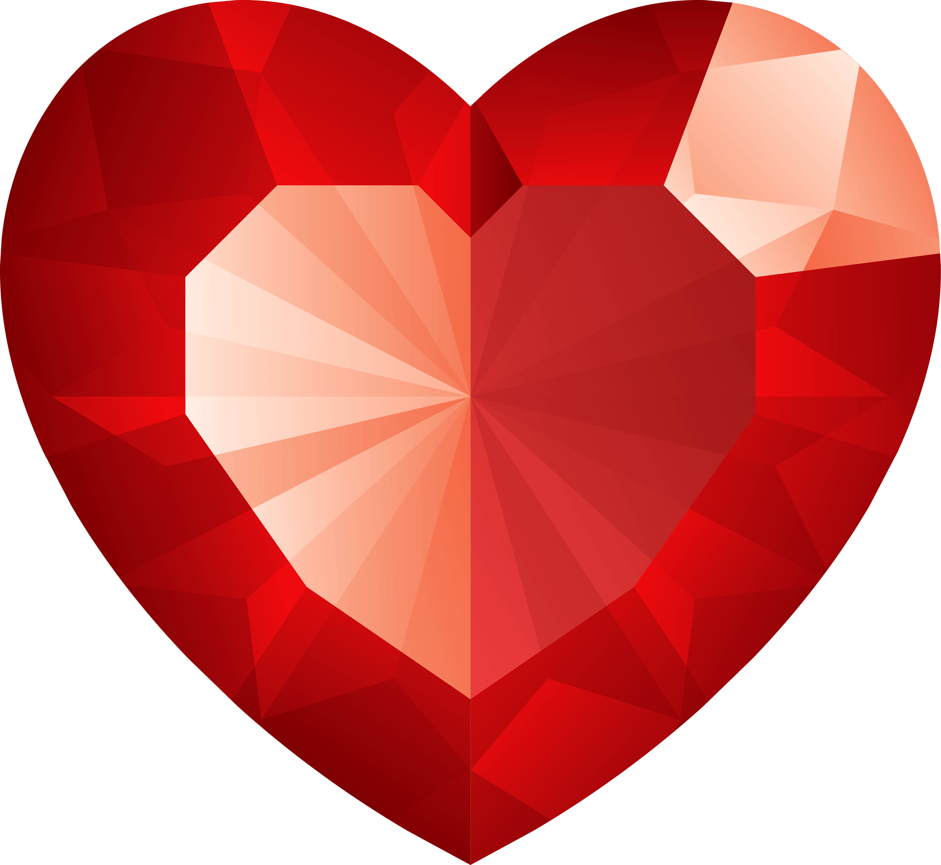 Diamond heart. Transparent png stickpng