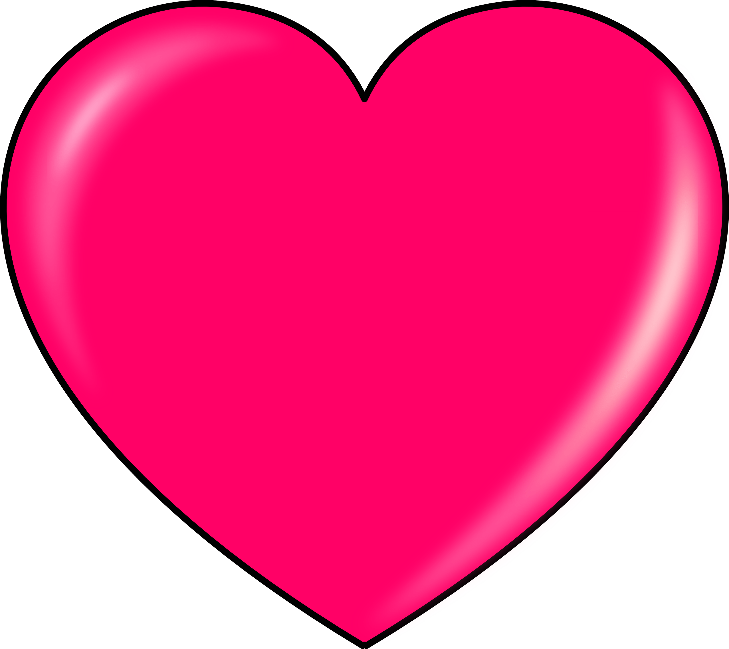 Pink Heart Clipart transparent PNG - StickPNG