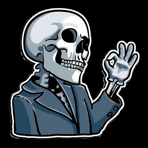 Skull Sticker transparent PNG - StickPNG