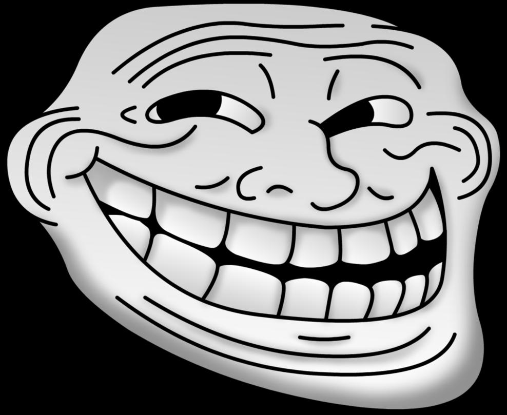 Filled Troll Face Transparent Png Stickpng