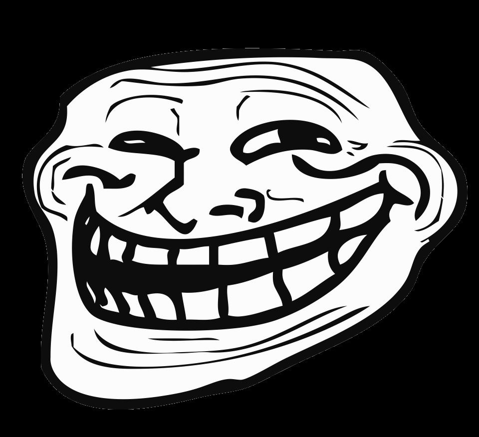 Left Troll Face Transparent Png Stickpng