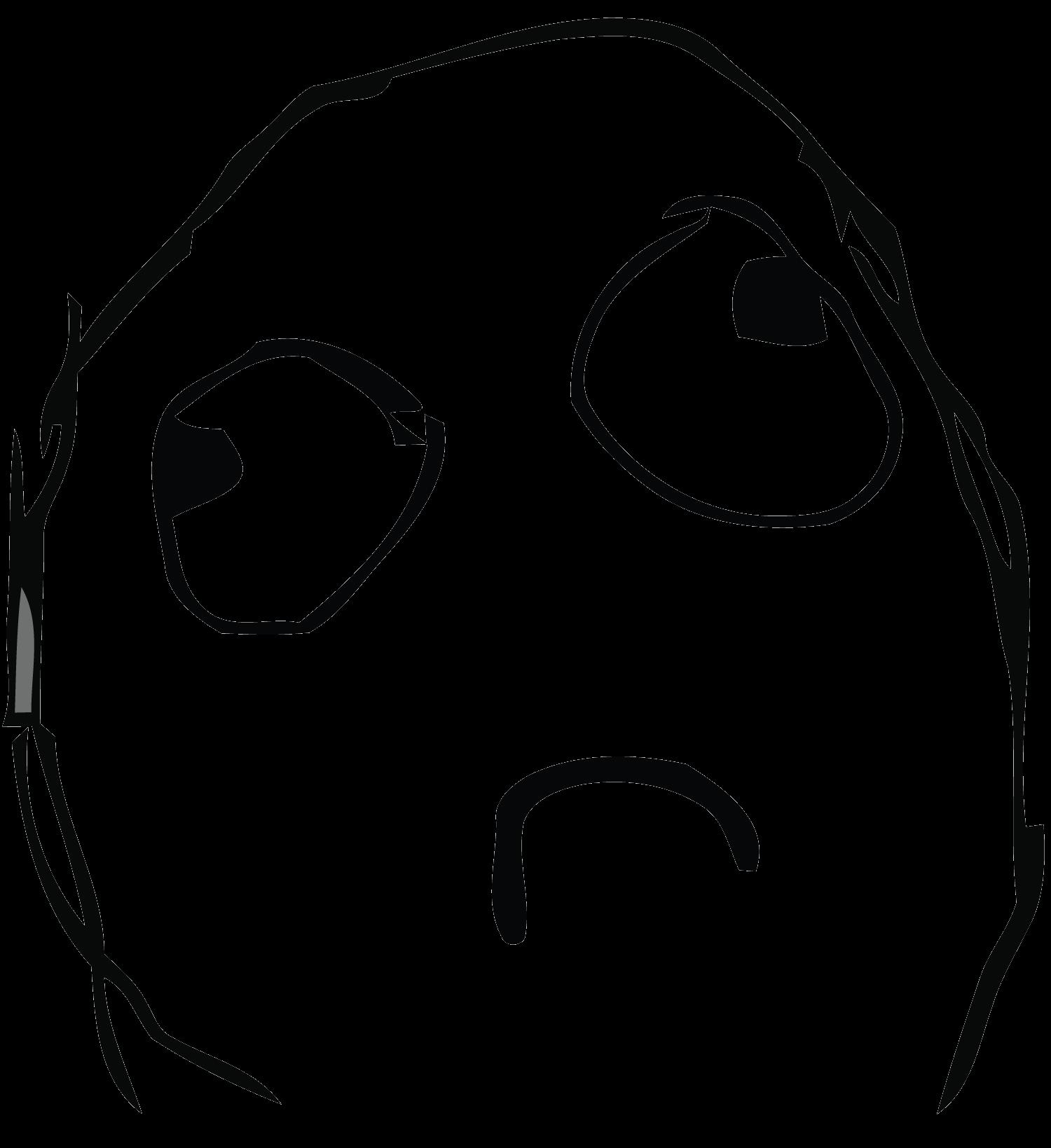 Simple Sad Troll Face Transparent Png Stickpng