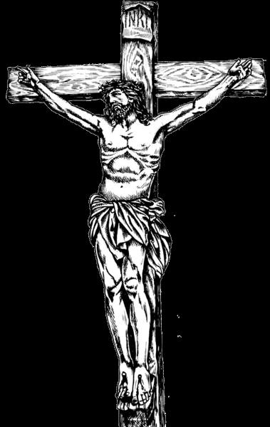 Line Art Picsart : Cross jesus illustration transparent png stickpng