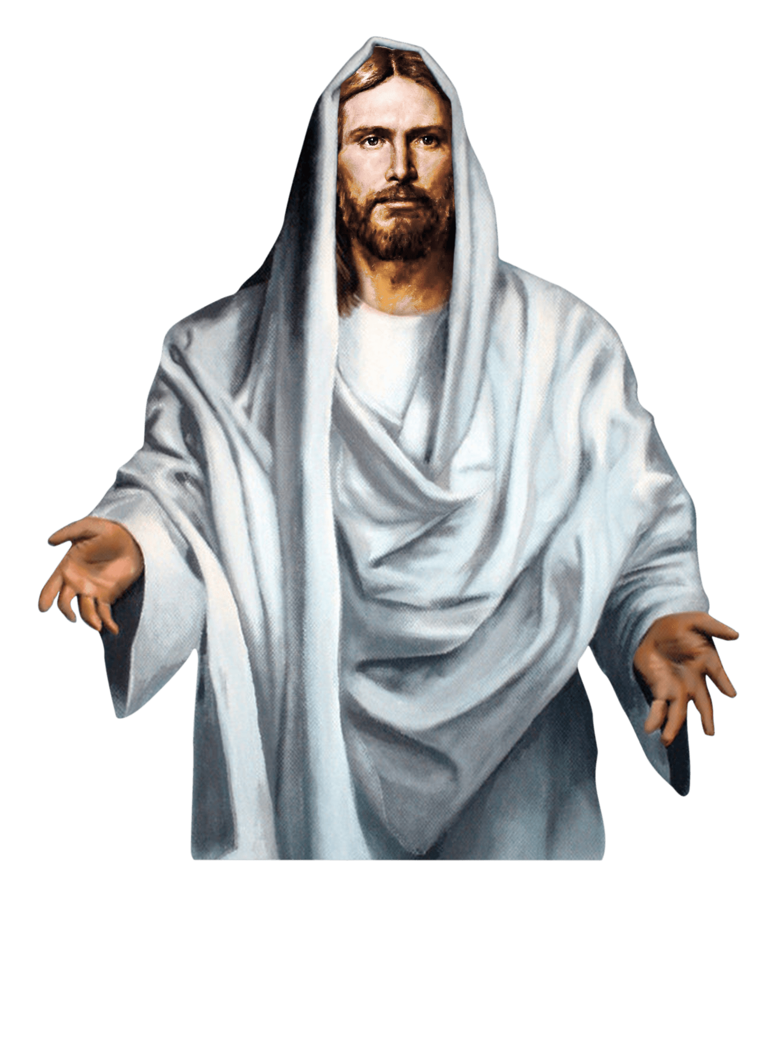jesus white background
