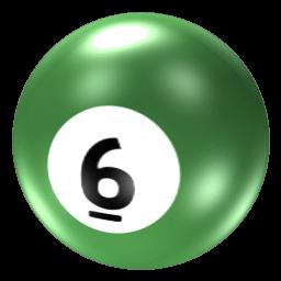 Billiard Ball 6 Transparent Png Stickpng
