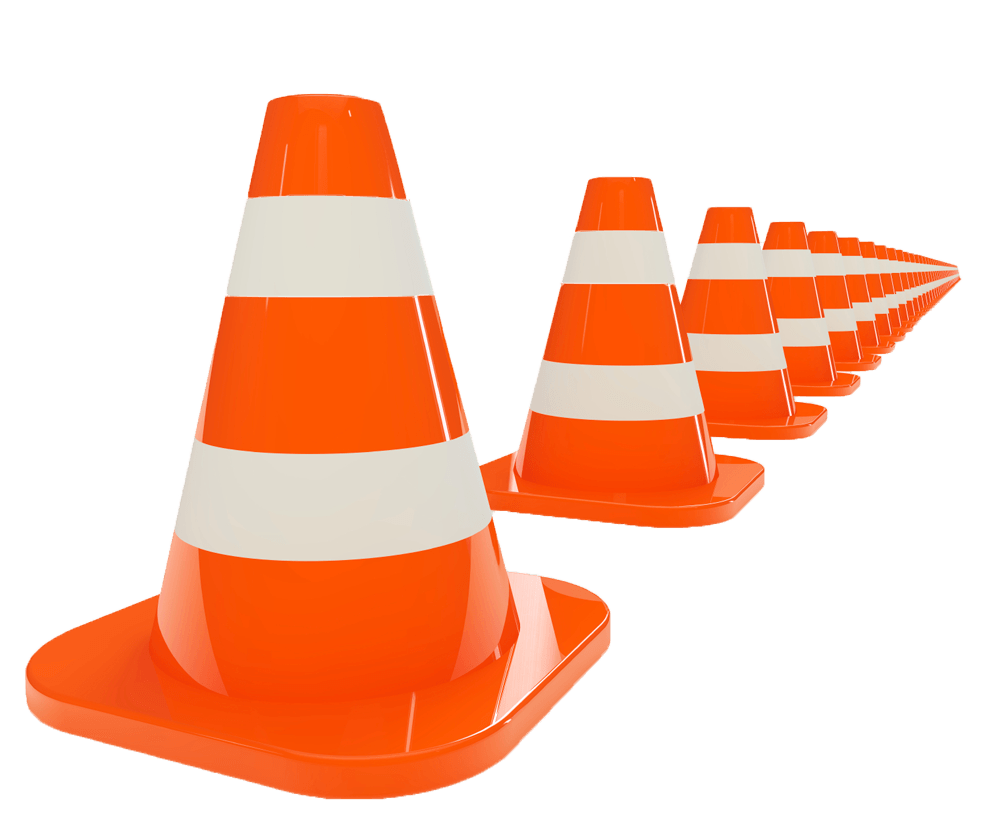Orange Traffic Cones Clipart | - 99.4KB
