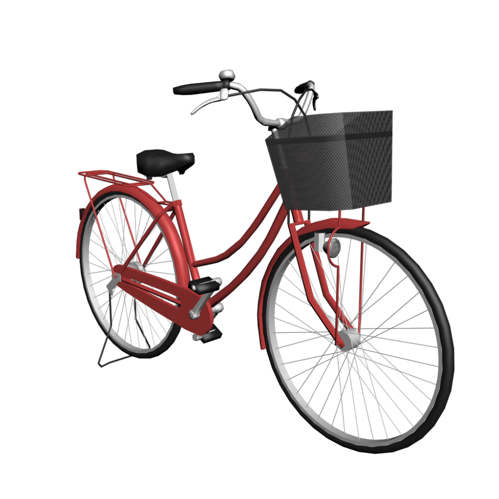 Women Red Bicycle transparent PNG - StickPNG