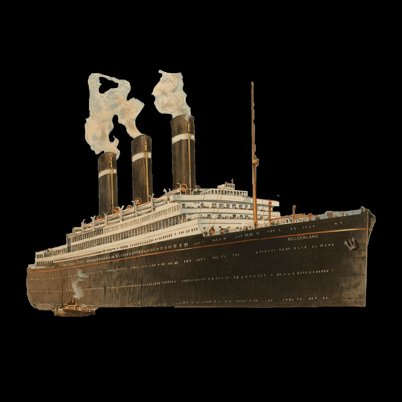 Vintage Wooden Boat Transparent PNG