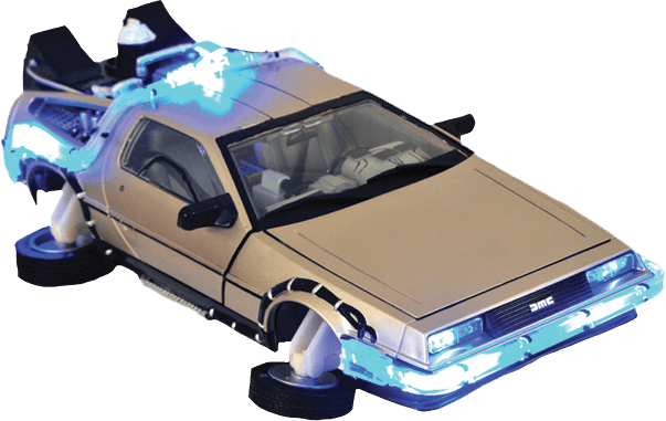 Flying Delorean Back To The Future