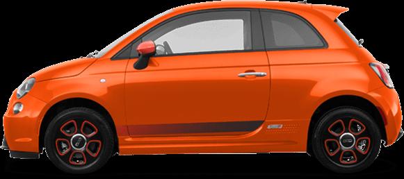 Très Fiat 500 Orange transparent PNG - StickPNG JB77