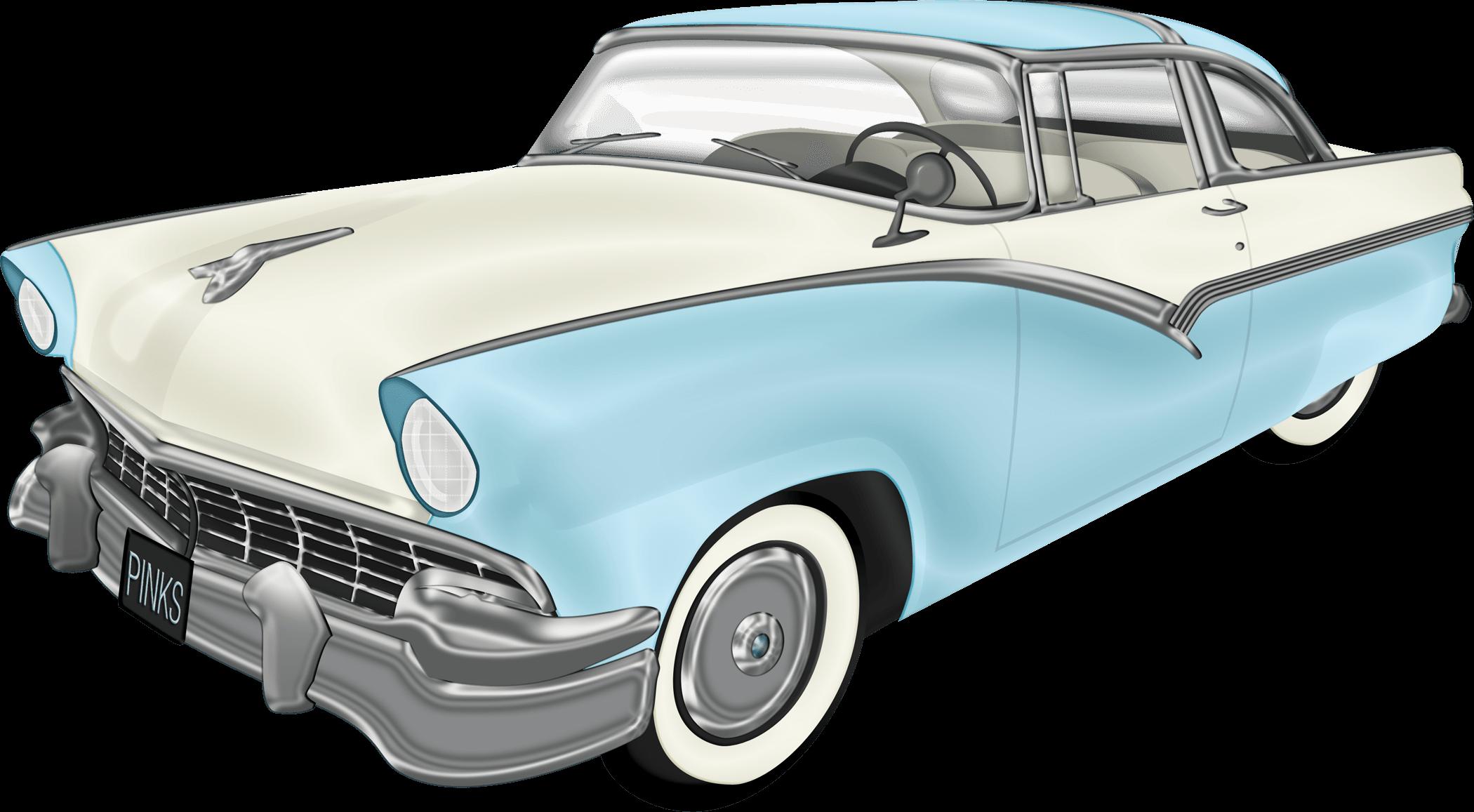 Oldtimer Us Car Transparent Png Stickpng