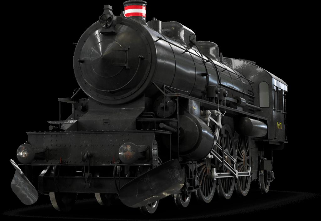 Steampunk Locomotive Front View Transparent PNG