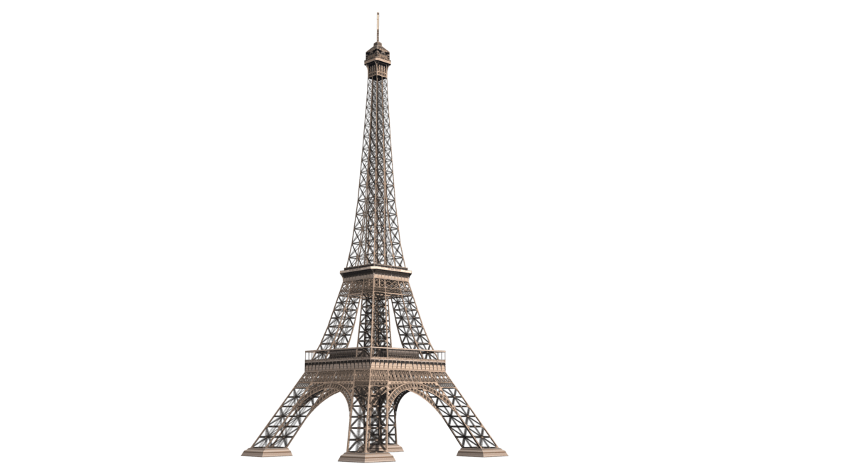 Eiffel Tower Metal Transparent PNG