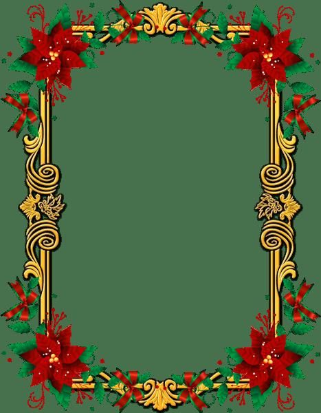Ornate Christmas Frame transparent PNG - StickPNG