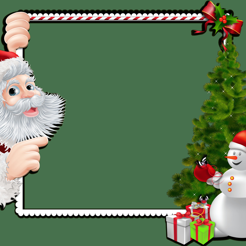 Chritstmas Frame Santa Claus Snowman transparent PNG - StickPNG