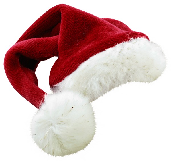 31d1290715378 Christmas Santa Claus Hat Large transparent PNG - StickPNG