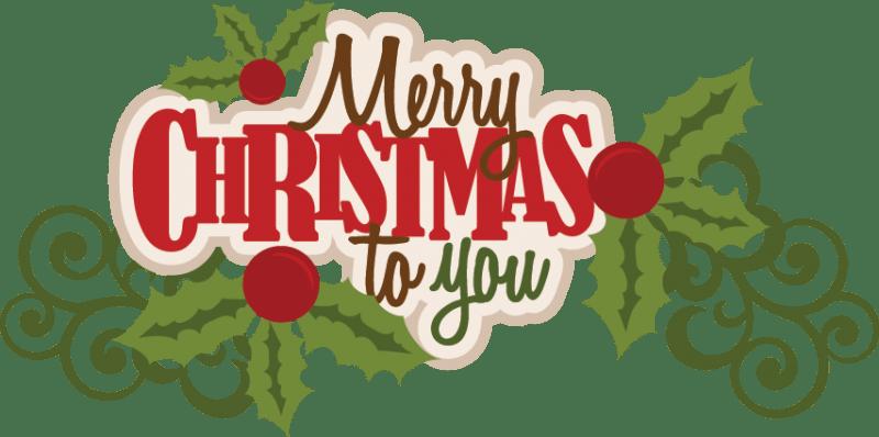 Merry Christmas To You.Merry Christmas To You Text Transparent Png Stickpng