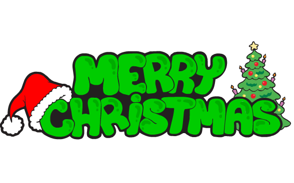 Merry Christmas Green Text Transparent Png Stickpng