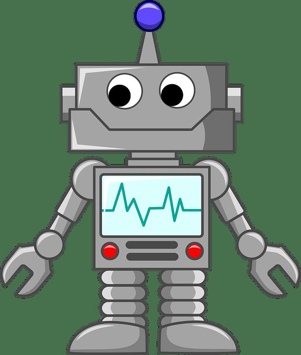 Cartoon Bot transparent PNG - StickPNG