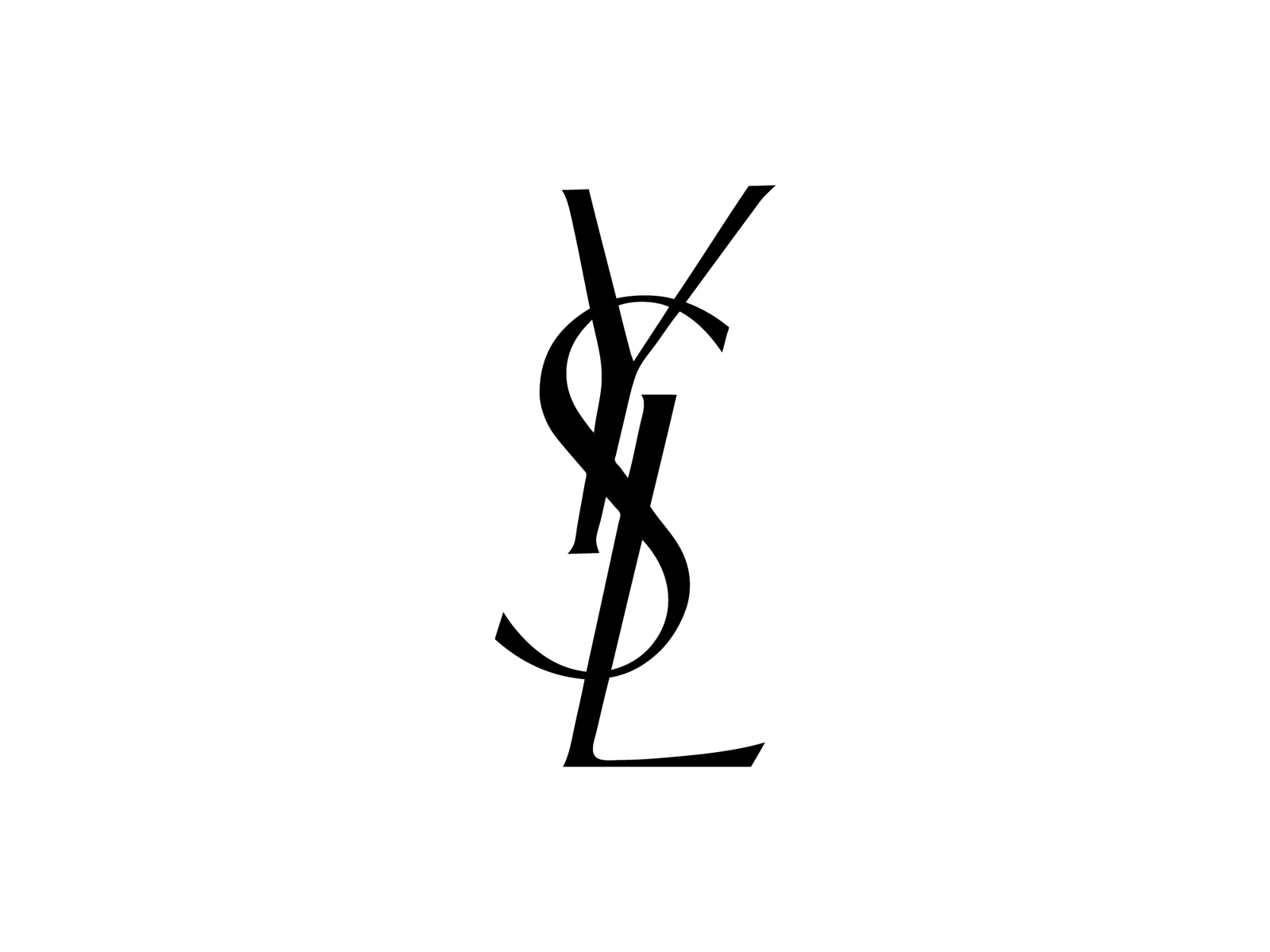 yves saint laurent logo transparent png stickpng